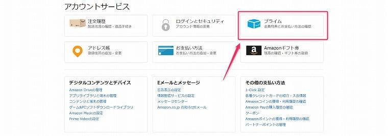 Amazonプライム会員解約方法
