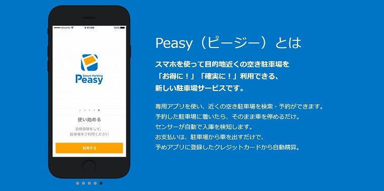 Smart Parking Peasy(ピージー)とは