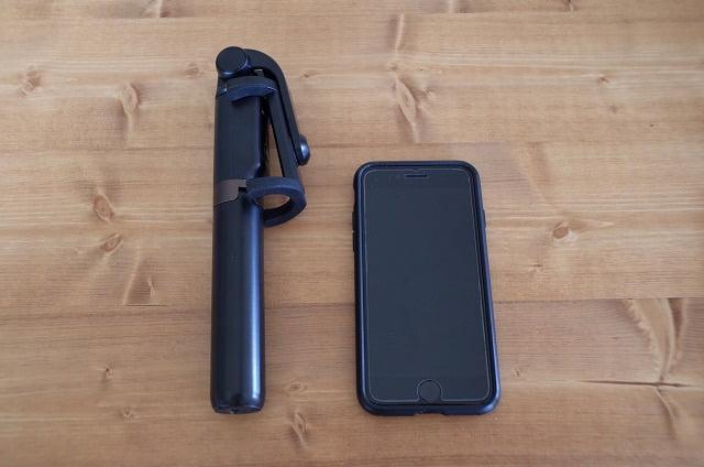 BlitzWolf自撮り棒とiPhone8