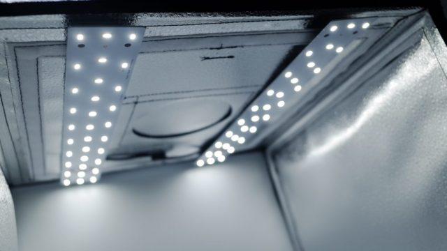 PULUZ撮影ボックスのLEDライト