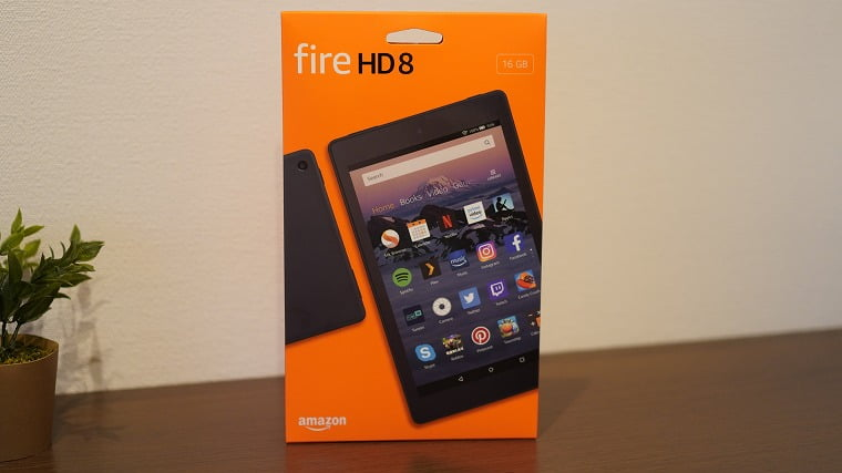 fire HD8のパッケージ