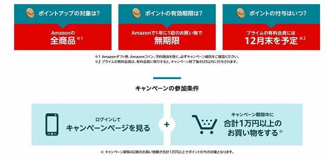 Amazonサイバーマンデー参加条件