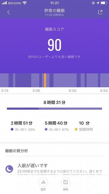 Xiomi「Mi Smart Band4」で睡眠トラッキング