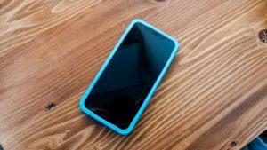 ガイド枠をiPhoneに被せる